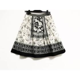 【中古】 ロイスクレヨン Lois CRAYON スカート サイズM レディース アイボリー 黒 ペイズリー柄