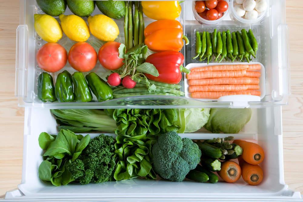冷蔵庫に入っている野菜
