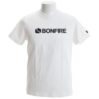ボンファイア(Bonfire) ロゴ ショートスリーブTシャツ 50BNF9SCD2033 WHT (Men's)