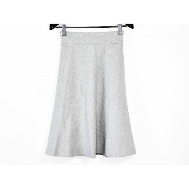 【中古】 ミラオーウェン Mila Owen スカート サイズF レディース 美品 ライトグレー
