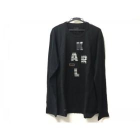 【中古】 カールヘルム KarlHelmut 長袖Tシャツ サイズL メンズ 美品 黒 アイボリー