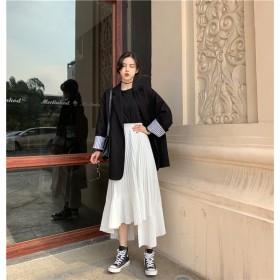 限定SALE価格 韓国ファッション スウィート エレガント 春 夏 新品 イレギュラー プリーツ ハイウエスト ワードスカート ケーキスカート シフォン スカート キュート 毎日