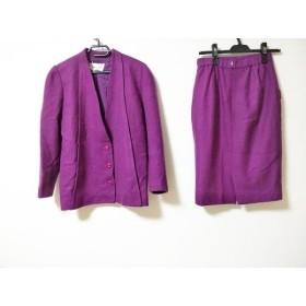 【中古】 ジュンアシダ JUN ASHIDA スカートスーツ サイズ9 M レディース パープル