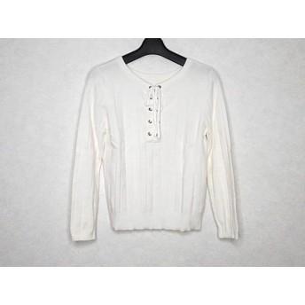 【中古】 ニジュウサンク 長袖セーター サイズ32 XS レディース アイボリー vingt-trois arrondissements