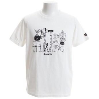 ボンファイア(Bonfire) CAMPERS ショートスリーブTシャツ 50BNF9SCD2034 WHT (Men's)
