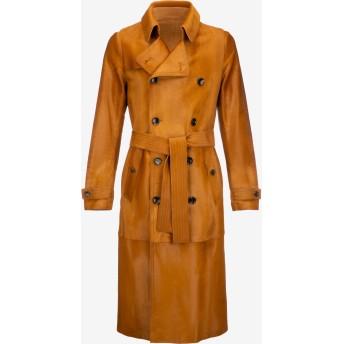 Calf Hair Trench Coat ブラウン
