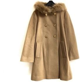 【中古】 ボンメルスリー Bon mercerie コート サイズ36 S レディース ライトブラウン 冬物