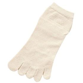 婦人シルク重ねてはく薄手5本指くつ下 / SY308 オフホワイト 1足