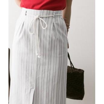 URBAN RESEARCH(アーバンリサーチ) スカート スカート ストライプタックタイトスカート【送料無料】
