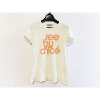 【中古】 シーバイクロエ SEE BY CHLOE 半袖Tシャツ サイズ38 M レディース アイボリー オレンジ