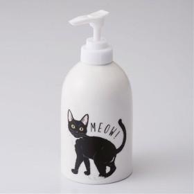 猫のソープディスペンサー - セシール ■カラー:黒ネコ) C(グレーネコ
