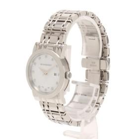 9c1f8f1beeac 【中古】ABランク BURBERRY バーバリー ヘリテージ レディース 腕時計 BU1370 シェル文字盤 12Pダイヤモンド