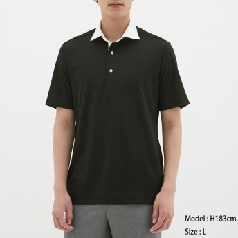 (GU)GUドライポロシャツ(半袖)(クレリック)CL BLACK M