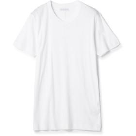 ESTNATION / テレコVネックTシャツ ホワイト/MEDIUM(エストネーション)◆メンズ Tシャツ/カットソー