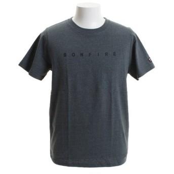 ボンファイア(Bonfire) CAMP ロゴ ショートスリーブTシャツ 50BNF9SCD2036 DGRN (Men's)