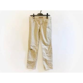 【中古】 ジェイブランド J Brand パンツ サイズ23 レディース アイボリー ダメージ加工