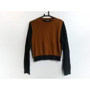 【中古】 オープニングセレモニー 長袖セーター サイズOS レディース 美品 ブラウン ダークネイビー