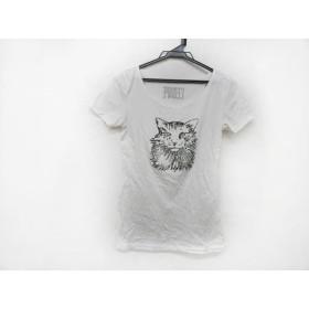 【中古】 レキップ ヨシエイナバ L'EQUIPE YOSHIE INABA 半袖Tシャツ サイズ38 M レディース アイボリー