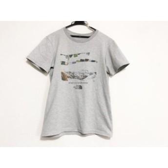 【中古】 ノースフェイス 半袖Tシャツ サイズM メンズ 美品 ライトグレー ダークグレー マルチ