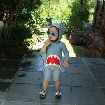 子供水着 キッズ水着 男の子水着 子供用 水着 サメ 女の子 男の子 日焼け止め 速乾性 赤ちゃん 趣味コスプレ フード付き