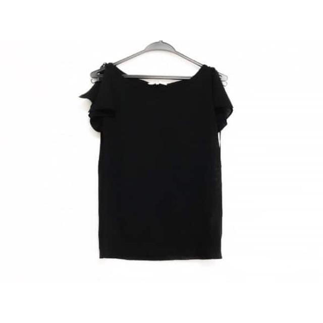 【中古】 ニジュウサンク 23区 半袖セーター サイズ38 M レディース 美品 黒