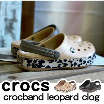 クロックス Crocs crocband leopard バンド レオパード サンダル