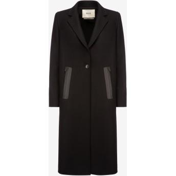 Single Breasted Long Coat ブラック
