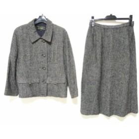 レリアン Leilian スカートスーツ サイズ13 L レディース ダークグレー 肩パッド【中古】