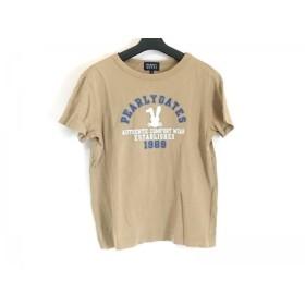 【中古】 パーリーゲイツ 半袖Tシャツ サイズ2 M レディース カーキ ネイビー ライトグリーン