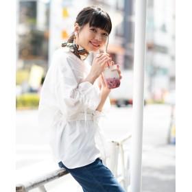 シャツ - WEGO【WOMEN】 ベルト付きBIG7分袖スキッパーシャツ WE19SM04-L029