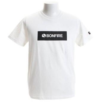 ボンファイア(Bonfire) ロゴ BOX ショートスリーブTシャツ 50BNF9SCD2035 WHT (Men's)