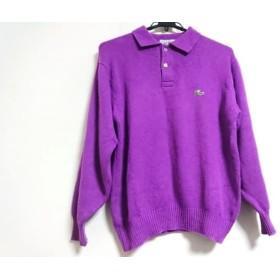 【中古】 ラコステ Lacoste 長袖ポロシャツ サイズ3 L メンズ ボルドー
