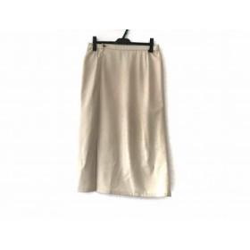 【中古】 ヒロコビス HIROKO BIS ロングスカート サイズ15 L レディース アイボリー