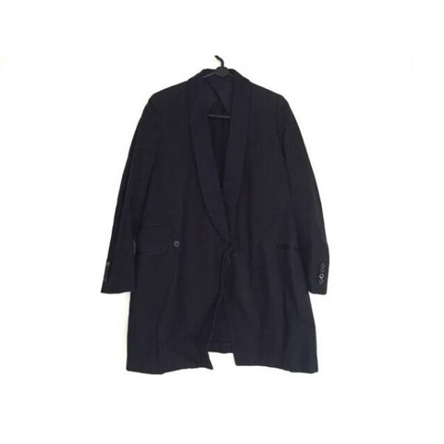 【中古】 ドゥロワー Drawer コート サイズ36 S レディース 黒 ダークネイビー 春・秋物