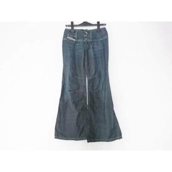 【中古】 ディーゼル DIESEL パンツ サイズ25 XS レディース ネイビー デニム/ダメージ加工