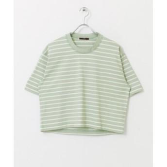 ITEMS(アイテムズ) トップス Tシャツ・カットソー クルーネックボーダーTシャツ