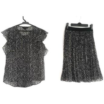 【中古】 エポカ EPOCA スカートセットアップ サイズ38 M レディース 美品 黒 白 プリーツ