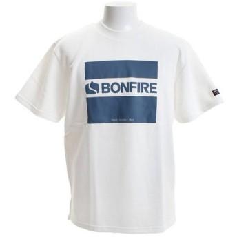 ボンファイア(Bonfire) ロゴCUBE ショートスリーブTシャツ 50BNF9SCD2043 WHT (Men's)