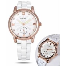 543d7c323f 女性用セラミックの時計発光ファッションカジュアルビジネス防水服は女の子アナログクオーツ腕時計