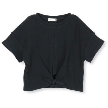 【50%OFF】 ブランシェス ウエスト結び半袖Tシャツ(80~150cm) レディース ブラック 80cm 【branshes】 【セール開催中】