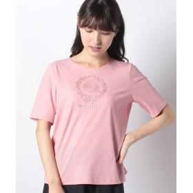 【44%OFF】 レリアン エンブロイダリーTシャツ レディース ピンク系 9 【Leilian】 【セール開催中】