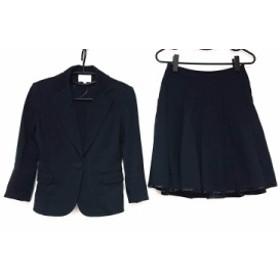 ナチュラルビューティー NATURAL BEAUTY スカートスーツ サイズ36 S レディース 黒 プリーツ【中古】