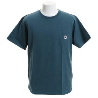 B ONE SOUL 【オンライン特価】 DUCK DUDE ワンポイント刺繍 ポケット 半袖Tシャツ 9570012-GRN (Men's)