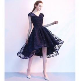 パーティドレス 二次会 結婚式 ドレス お呼ばれ ワンピース 20代 30代 袖あり 大きいサイズ ワンピース結婚式 【T002-HALN0644】