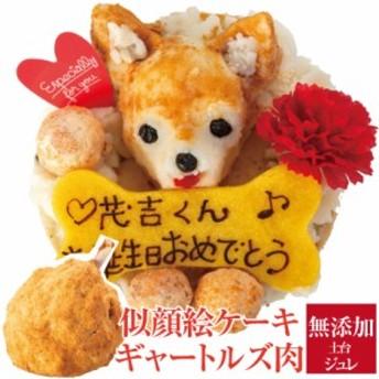 犬用 似顔絵 ケーキ・ギャートルズの肉(犬・誕生日ケーキ)無添加 【送料無料】