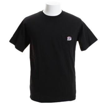 B ONE SOUL 【オンライン特価】 DUCK DUDE ワンポイント刺繍 ポケット 半袖Tシャツ 9570012-BLK (Men's)
