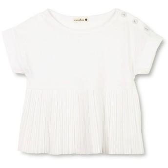 【50%OFF】 ブランシェス プリーツ切替え半袖Tシャツ(80~150cm) レディース オフホワイト 90cm 【branshes】 【セール開催中】