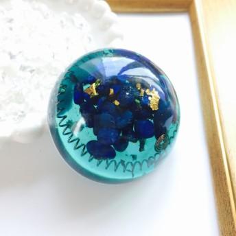 【天赦日+寅の日】ラピスラズリ×水晶のドーム型オルゴナイト