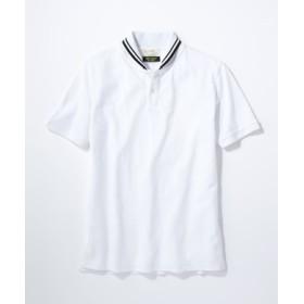 BACK NUMBER 「DRY LUSH」ドライラッシュショールポロシャツ メンズ ホワイト