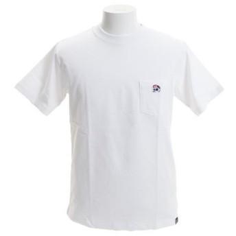 B ONE SOUL 【オンライン特価】 DUCK DUDE ワンポイント刺繍 ポケット 半袖Tシャツ 9570012-WHT (Men's)